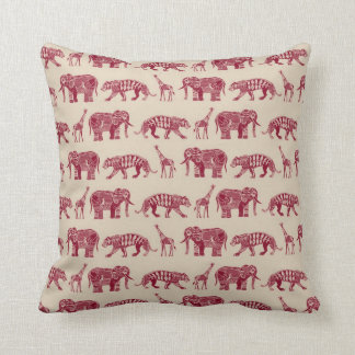 graphic zoo red throw pillow