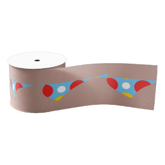 Graphical design grosgrain ribbon