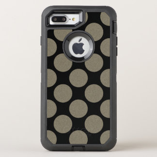 Graphical Diagonal Polka Dots any Color on Black OtterBox Defender iPhone 7 Plus Case