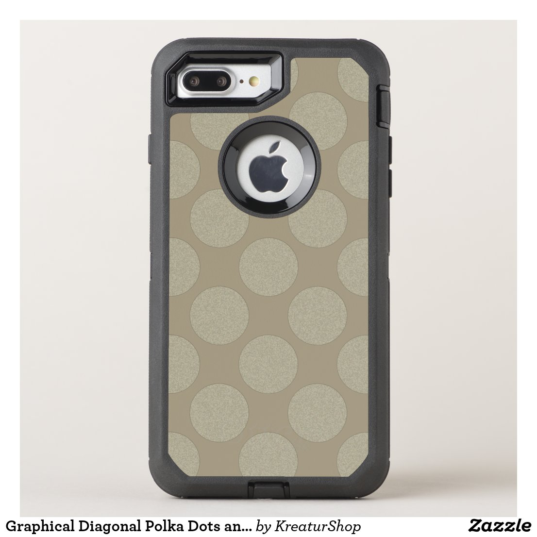 Graphical Diagonal Polka Dots any Color on Latte