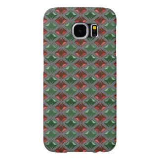 Graphical Diamonds Pattern Red Green Gems Samsung Galaxy S6 Case
