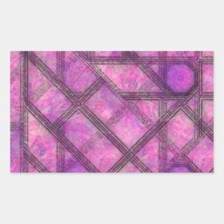 graphical effect rectangular sticker
