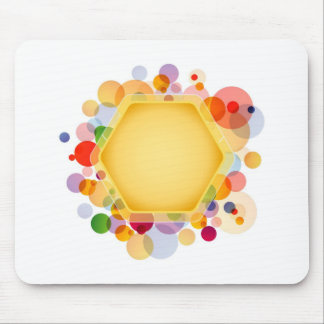 Graphical Honeycomb with colorful dots Mouse Pad
