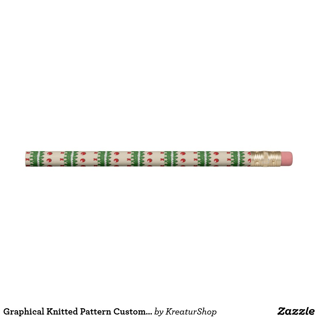 Graphical Knitted Pattern Custom Cream Color