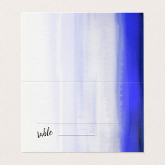 Graphical modern abstract watercolor place card