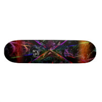 Graphical Time Skateboard Deck