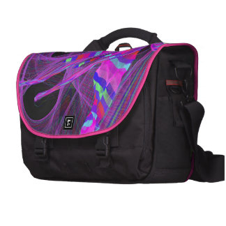 graphical wild colorful laptop commuter bag