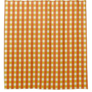 Graphical Woven Checkered 70s Orange