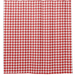 Graphical Woven Checkered Diagonal 60s Red White