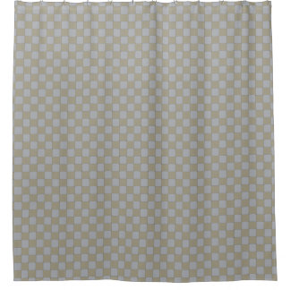 Graphical Woven Checkered Low Key Shower Curtain