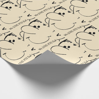 Graphics Animated Dad's Face Wrapping Paper