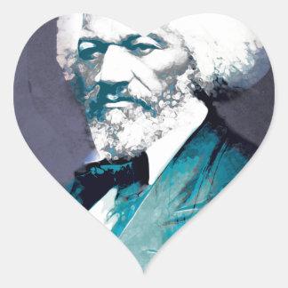 Graphics Depot - Frederick Douglass Portrait Heart Sticker