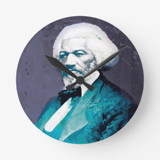 Graphics Depot - Frederick Douglass Portrait Round Clock