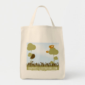 Graphics-Illustrations.Com Grocery Tote Canvas Bag