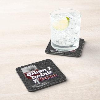 GRAPHICS SATIRE with Wine Beverage Coaster