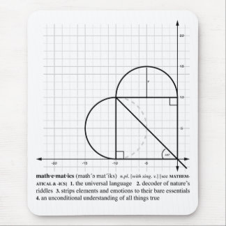 Graphing Love(b&w) Mouse Pad