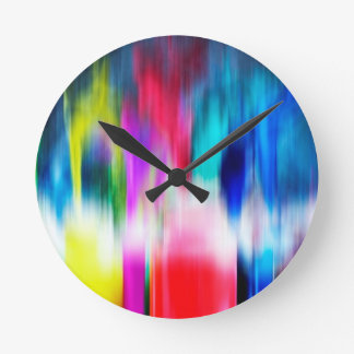 Graphite Abstract Antique Junk Style Fashion Art S Round Clock