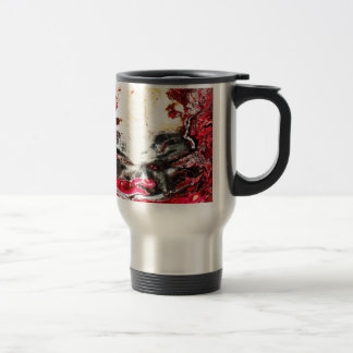 Graphite Abstract Antique Junk Style Fashion Art S Travel Mug