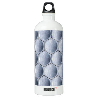 Graphite Abstract Antique Junk Style Fashion Art S Water Bottle