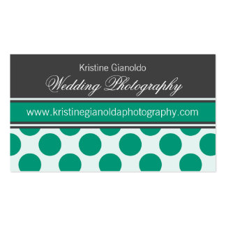 Graphite and Emerald Green Business Cards