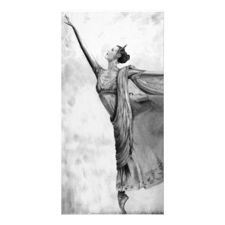 Graphite Ballerina Dancer Ballet Card