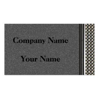 Graphite Carbon Metal Border Business Cards