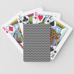 Graphite Chevron Pattern PT 68 Poker Deck