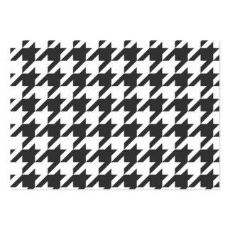 Graphite Dark Grey Houndstooth Business Card Templates