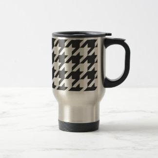 Graphite Dark Grey Houndstooth Travel Mug