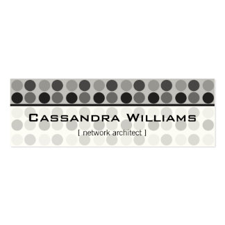Graphite Dots Network Micro Mini Business Cards