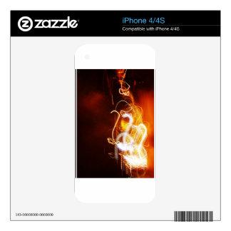 Graphite Fire Burn Smoke Abstract Metal Rusty Anti iPhone 4 Decal