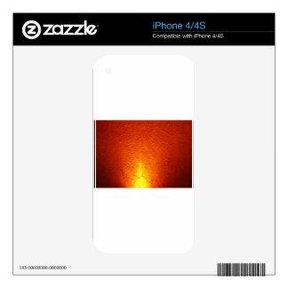 Graphite Fire Burn Smoke Abstract Metal Rusty Anti iPhone 4 Skin