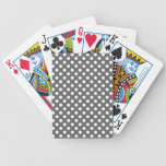 Graphite Grey Polka Dot Deck Of Cards