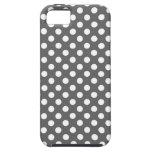 Graphite Grey Polka Dot iPhone 5 Cover