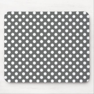 Graphite Grey Polka Dot Mouse Pad