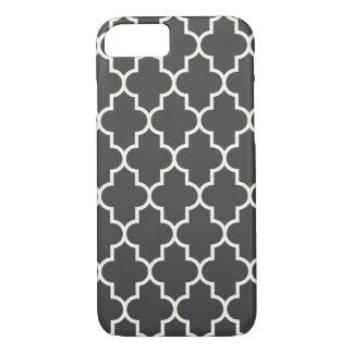 Graphite Grey Quatrefoil iPhone 7 Case