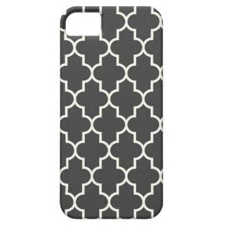 Graphite Grey Quatrefoil iPhone SE/5/5s Case