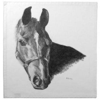 Graphite Horse Head Cloth Napkin