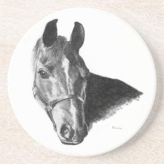 Graphite Horse Head Beverage Coasters