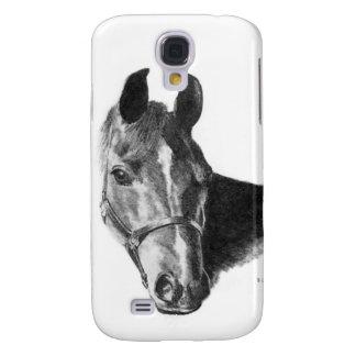 Graphite Horse Head Galaxy S4 Cover
