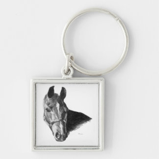 Graphite Horse Head Keychains