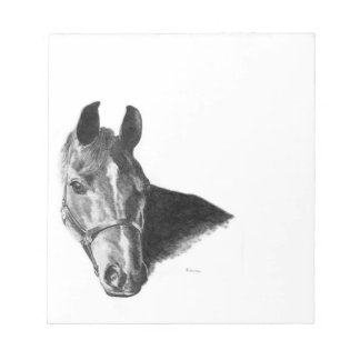 Graphite Horse Head Memo Pad
