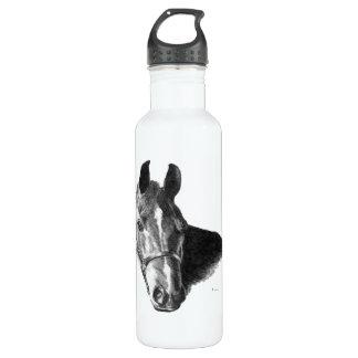 Graphite Horse Head 24oz Water Bottle