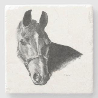 Graphite Horse Head Stone Coaster
