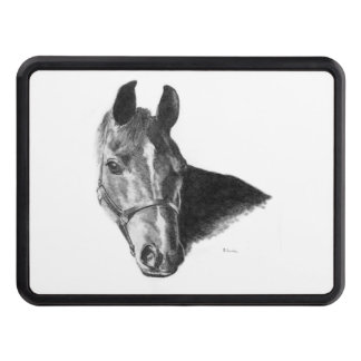 Graphite Horse Head Trailer Hitch Cover