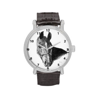 Graphite Horse Head Wrist Watches