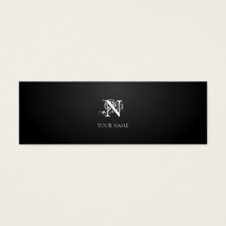 Graphite Nouveau Small Mini Business Card