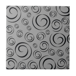 Grey Swirls X Decorative Ceramic Tiles Zazzle - 4x4 grey ceramic tile