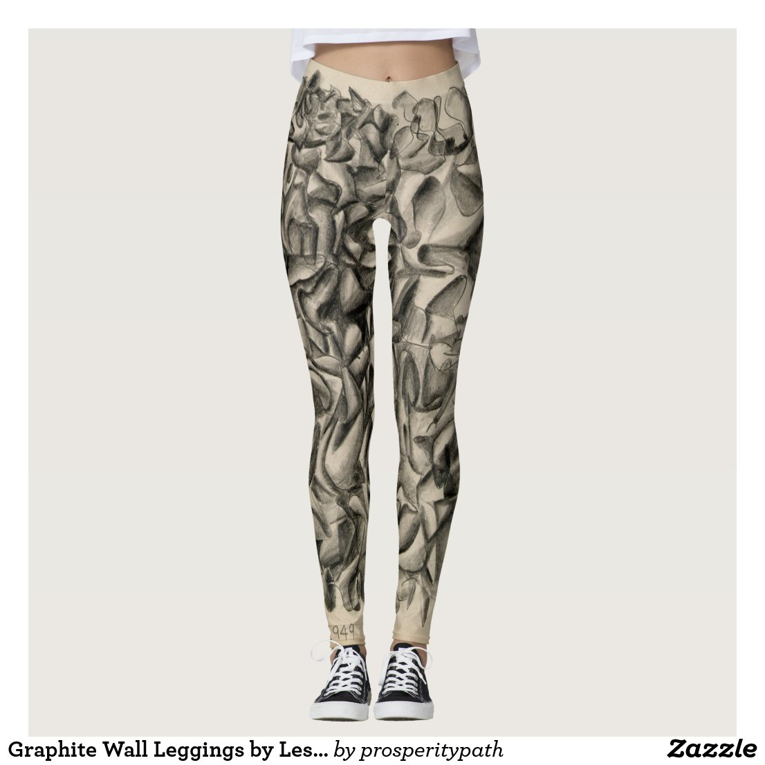 Graphite Wall Leggings by LeslieAnn