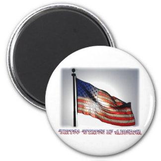 Graphiti Flag Magnet